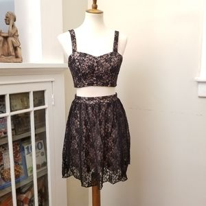 City Triangles Sequined Lace Dress, Size 5